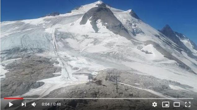 Las grietas del glaciar de la Grande Motte hacen peligroso el esquí