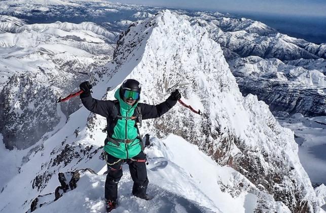 El aranés en la cima de Sierra Velluda (Chile)