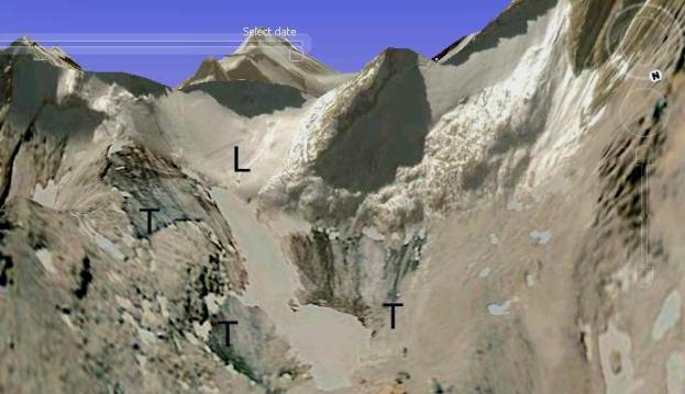 El glaciar de Presena, lugar de los hechos