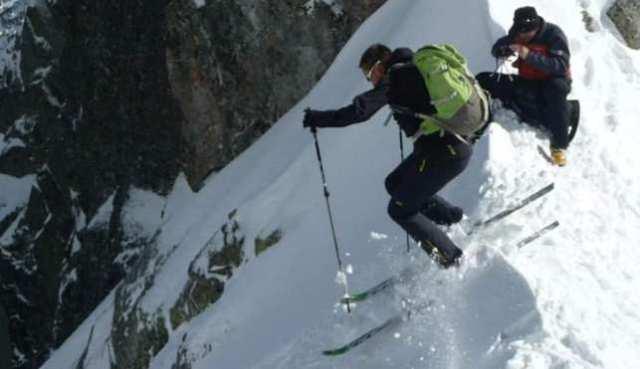 Una imagen del esquiador extremo