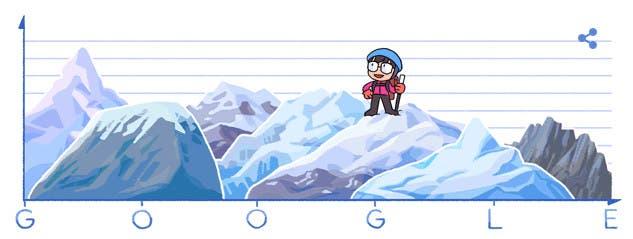 Junko Tabeifue este domingo la protagonista deldoodle que encabeza la página de Google