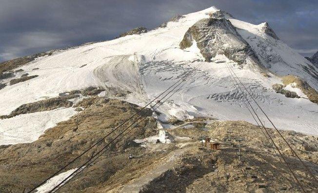 El glaciar de la Grande Motte sigue estando faltado de nieve este otoño