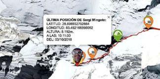 Mingote muestra su ubicación a tiempo real