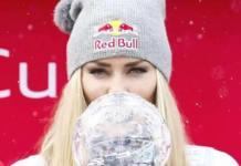 Vonn, que ostenta, con 82 victorias, posee el récord femenino en la historia de la Copa del Mundo de esquí alpino