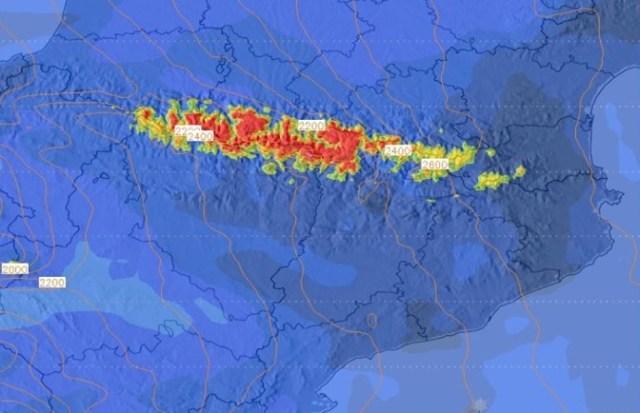 Previsión de nieve en los Pirineos