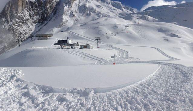 Vista de la estación de Gourette