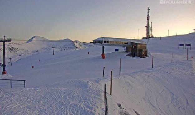 Aspocto actual de nieve en Baqueira Beret