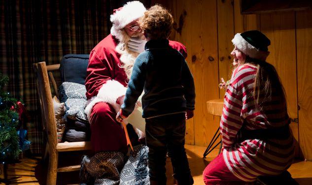 Papá Noel visita la estación andorrana