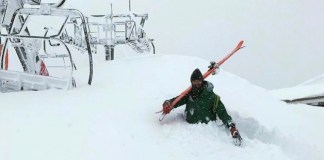 Un esquiador intentaba acceder a un telesilla de la estación