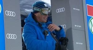 Markus Waldner, al borde del ataque de nervios.