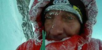 Dennis Urubko, en el Broad Peak. Facebook: Dennis Urubko