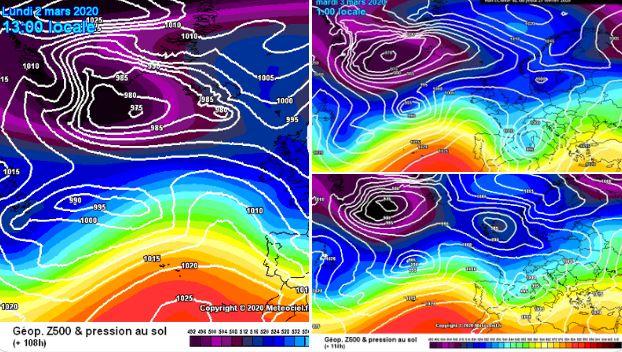 Los tres principales modelos meteorológicos