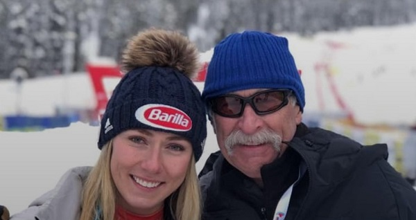 Mikaela Shiffrin con Jeff, su padre. FOTO: Instagram MS