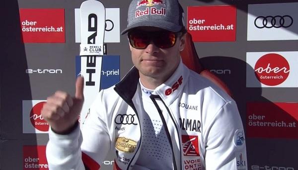 Excelente fin de semana de Pinturault en Hinterstoder. Dos victorias y un cuarto puesto en tres carreras. 250 puntos de 300 posibles.