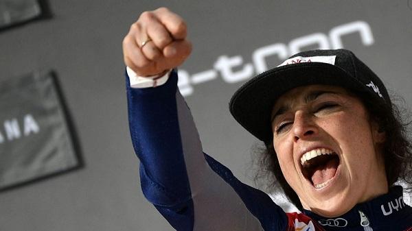 Federica Brignone, primera italiana en ganar un Gran Globo. FOTO: Marca/AFP