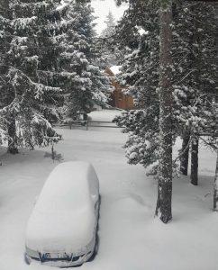 Aspecto de Pyrénées 2000 tras la nevada del jueves