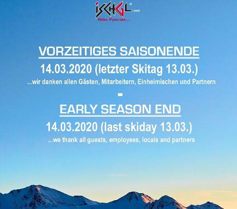 La estación del Tirol austriaco bajó la persiana el 13 de marzo