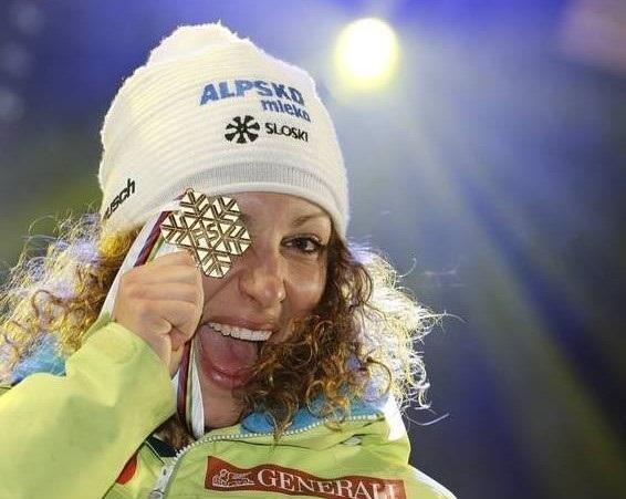 Stuhec, con el oro de St. Moritz 2019. FOTO: Facebook I.S.
