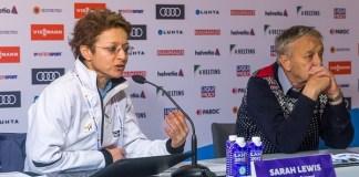 Sarah Lewis, secretaria general de la FIS, y su presidente Gian Franco Kasper tienen ante sí un problema complicado de resolver.