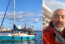 Juan Manuel Ballestero y su velero