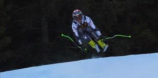 Steven Nyman, en acción en Val Gardena donde ha obtenido sus tres victorias en la Copa del Mundo.