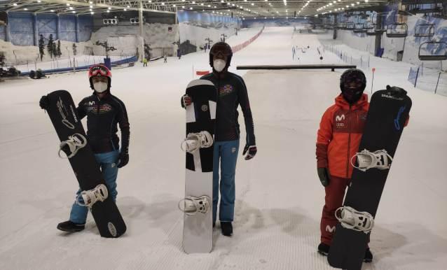 El grupo en Madrid Snowzone