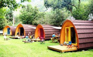 Detalle de un camping pirenaico