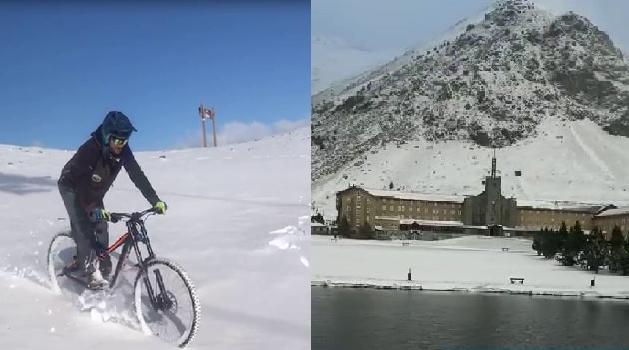 Los vídeos de ambas pistas muestran un ambiente invernal