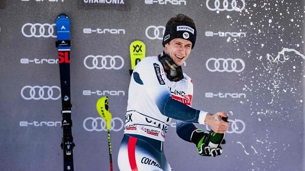 Clément Noël fue el vencedor del slalom en Chamonix de la pasada temporada.