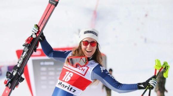 Sofia Goggia, vencedora del super G de la pasada temporada en St. Moritz.,