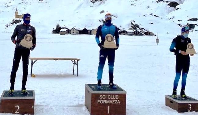El esquiador tolosano Imanol Rojo, en el podio