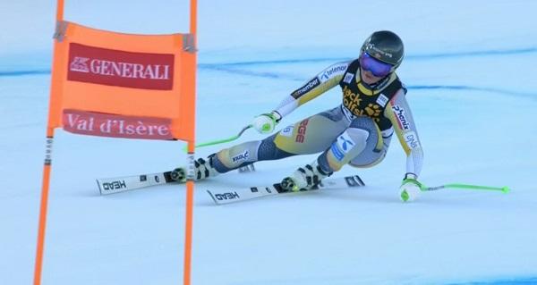 Primer podio de Copa del Mundo para la prometedora noruega de 22 años Kajsa Vickhoff Lie.