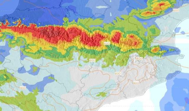 La nieve llega a los Pirineos