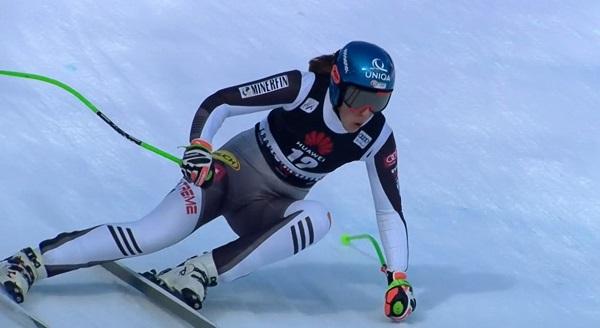 Con su cuarta plaza de hoy Vlhova iguala su mejor resultado en un descenso.
