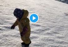 Paseo matutino por la nieve de Noruega