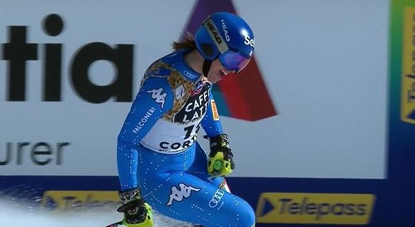 Elena Curtoni, octava, la mejor de un equipo italiano que todavía no ha pisado podio.