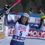 Victoria liberadora para Brignone, la primera de la temporada, en el super G de Val di Fassa.