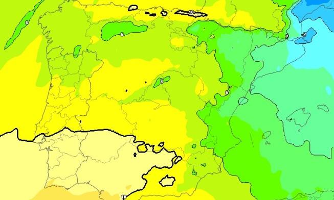 La entrada de vientos húmedos de levante dejarán un ambiente más frío domingo