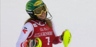 Katharina Liensberger ha estrenado su palmarés en la Copa del Mundo en el segundo slalom de Are.