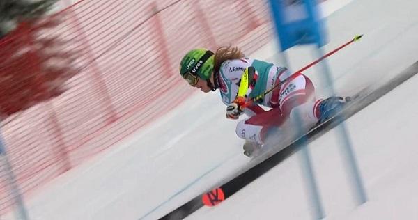 Katharina Liensberger irá a más en gigante y podrá optar a retos más exigentes.