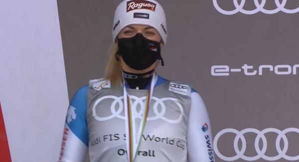 La cara de Lara Gut en el podio final decía muchas cosas.