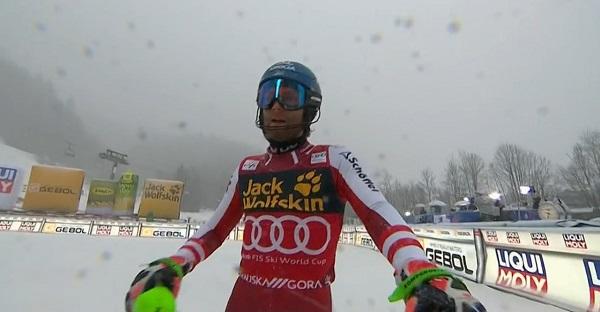 Una séptima plaza le ha bastado a Marco Schwarz para ganar el Globo de slalom, el primero de su carrera.