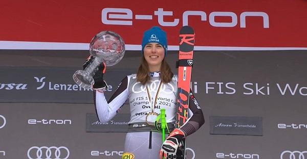 Petra Vlhova ha disputado todas las carreras de la Copa del Mundo 2020-2021.