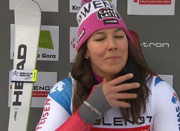Wendy Holdener no estará este fin de semana disputando slalom y gigante al contagiarse de Covid-19.