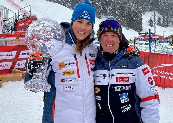 Petra Vlhova y Livio Magoni concluyen una relación profesional de cinco temporadas. FOTO: Facebook P.V.