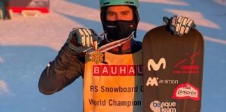 Lucas Eguibar, campeón del mundo de SBX, obtuvo el mayor éxito deportivo de los equipos RFEDI la pasada temporada. FOTO: RFEDI.