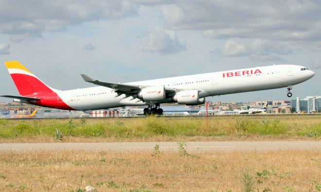 Una imagen de un avión de Iberia