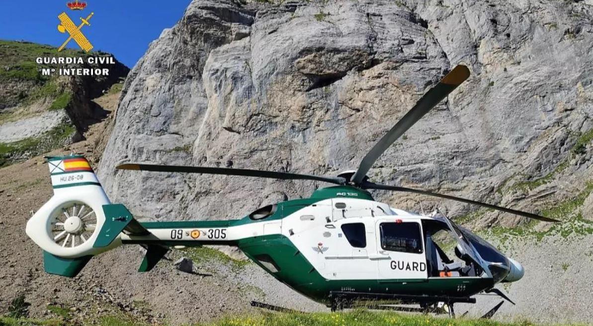 Helicóptero dela Guardia Civil