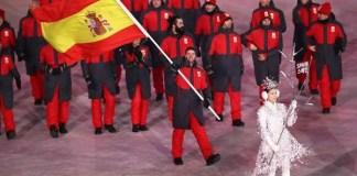 La delegación española en la inauguración de los Juegos de Pyeongchang. FOTO: Lucas Eguibar