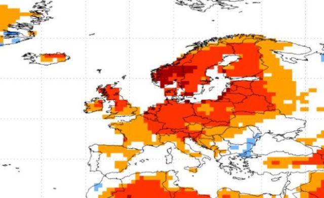 Nivel de temperaturas según NOAA